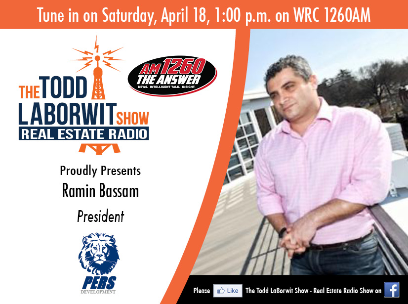 PERS Development: Ramin Bassam  - Real Estate Radio Announcement card Image
