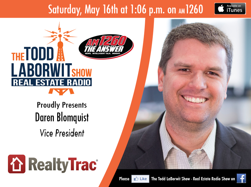 Daren Blomquist Vice President of RealtyTrac Announcement Card Image