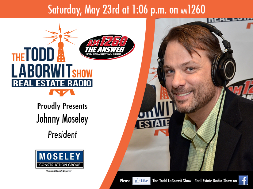 Moseley Construction Group Johnny Moseley on RE Radio Header Image