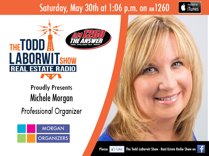 Professional Organizer Michele Morgan on Real Estate Radio Header Image
